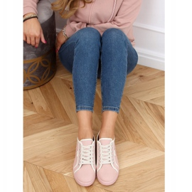 Pink NB385P Pink sneakers white 3