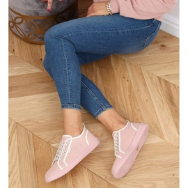 Pink NB385P Pink sneakers white 2