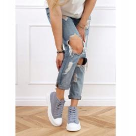 Gray women's sneakers LA123 blue grey 4
