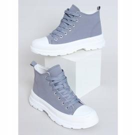 Gray women's sneakers LA123 blue grey 1