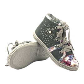 Bootees baby shoes with jets Bartek 87254 pink grey 3