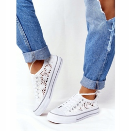FB2 Women's White Candice Lace Sneakers 4