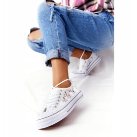 FB2 Women's White Lace Candice Sneakers 1