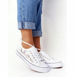 FB2 Women's White Lace Candice Sneakers 6