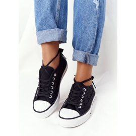 FB2 Women's Black Lace Candice Sneakers 2