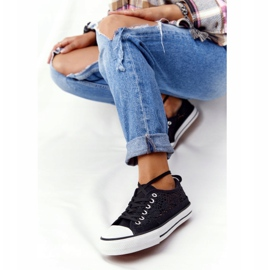 FB2 Women's Black Lace Candice Sneakers 5