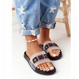 Women's Slippers Big Star FF274A200 Black colorless 5