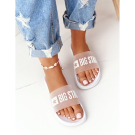 Women's Slippers Big Star FF274A199 White colorless 3