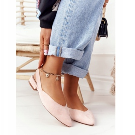 S.Barski Suede Ballerinas On High Heels S. Barski Pink 1