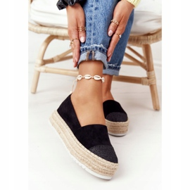 S.Barski Espadrilles On The Straw Platform S. Bararski Black 4