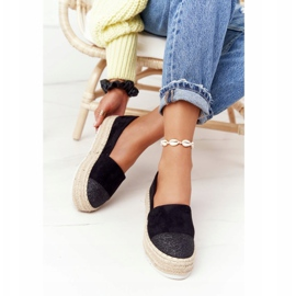 S.Barski Espadrilles On The Straw Platform S. Bararski Black 2