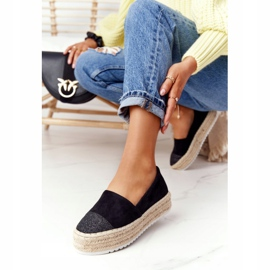 S.Barski Espadrilles On The Straw Platform S. Bararski Black 5