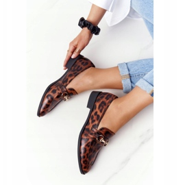 S.Barski Elegant Women's Loafers S. Barski Leopard brown 1