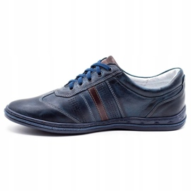 Joker Men's leather shoes 521 navy blue 1