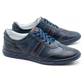 Joker Men's leather shoes 521 navy blue 2