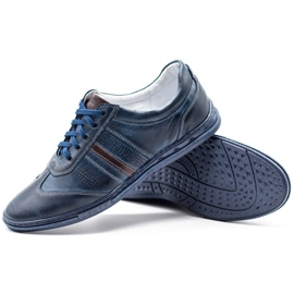 Joker Men's leather shoes 521 navy blue 3