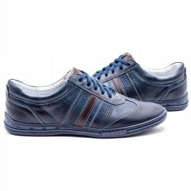 Joker Men's leather shoes 521 navy blue 4