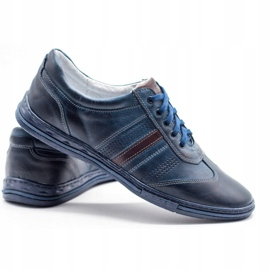 Joker Men's leather shoes 521 navy blue 6
