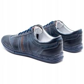 Joker Men's leather shoes 521 navy blue 7