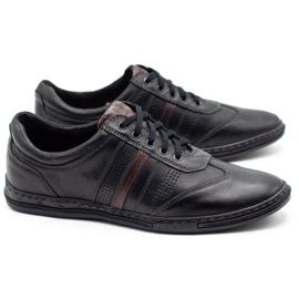 Joker Black men's leather shoes 521 2