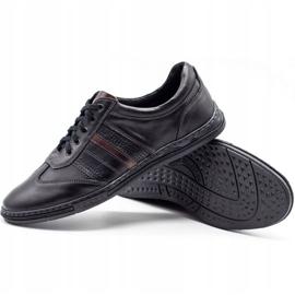 Joker Black men's leather shoes 521 3