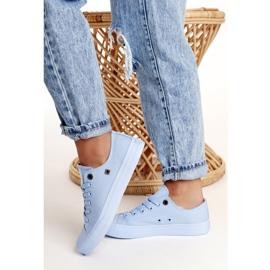 Women's Classic Low Sneakers Big Star AA274029 Light Blue 5