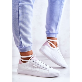 Women's Sneakers Big Star HH274073 White and Pink 4