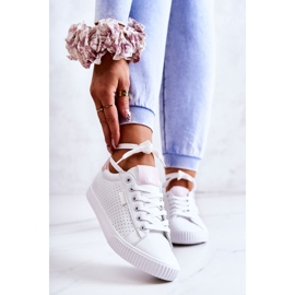 Women's Sneakers Big Star HH274073 White and Pink 1
