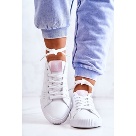 Women's Sneakers Big Star HH274073 White and Pink 3