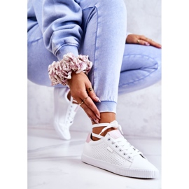 Women's Sneakers Big Star HH274073 White and Pink 5