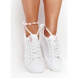 Women's Sneakers Big Star HH274073 White and Pink 6