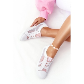 Women's Sneakers With Mesh Big Star DD274688 White-Pink 6