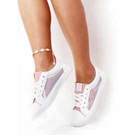 Women's Sneakers With Mesh Big Star DD274688 White-Pink 2