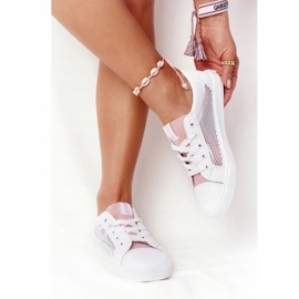 Women's Sneakers With Mesh Big Star DD274688 White-Pink 3