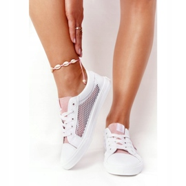 Women's Sneakers With Mesh Big Star DD274688 White-Pink 5
