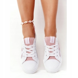 Women's Sneakers With Mesh Big Star DD274688 White-Pink 1