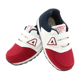 American Club Sports shoes leather insert American BS01 BS02 Red white navy blue 3