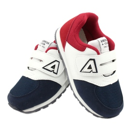 American Club American BS01 BS02 Navy leather insole white red navy blue 4