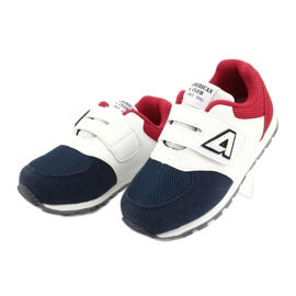 American Club American BS01 BS02 Navy leather insole white red navy blue 2