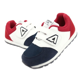 American Club American BS01 BS02 Navy leather insole white red navy blue 3