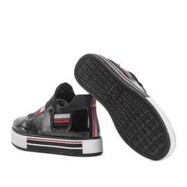 Black lacquered sneakers from Kaitlynn 2