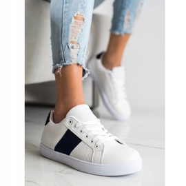 SHELOVET Openwork Sneakers With Eco Leather white 1