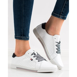 Filippo Stylish Leather Sneakers white 3
