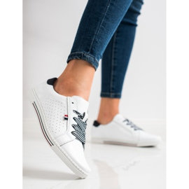 Filippo Stylish Leather Sneakers white 2