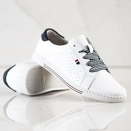 Filippo Stylish Leather Sneakers white 4