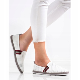 Filippo White Leather Slipons 3