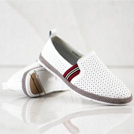 Filippo White Leather Slipons 1