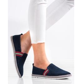 Filippo Navy Leather Slipons navy blue blue 2
