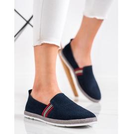 Filippo Navy Leather Slipons navy blue blue 3