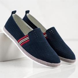 Filippo Navy Leather Slipons navy blue blue 1